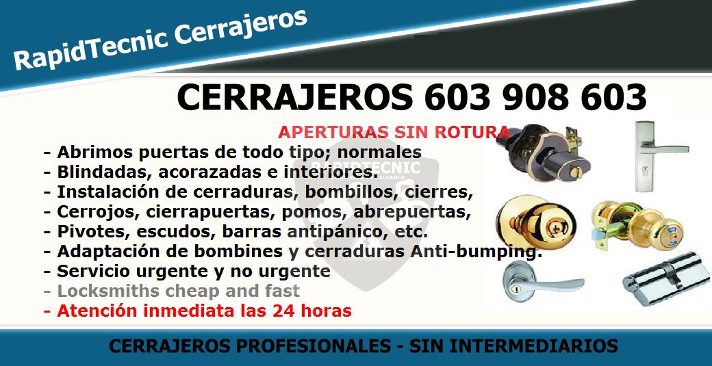 Cerrajeros Fontaneros Electricistas Cordoba 603 908 603